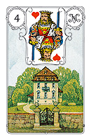 Lenormand card, picture sample, The House