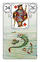 Lenormand card, picture sample, The Fish
