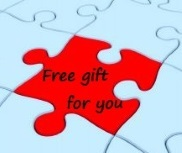 jigsaw piece reading: Free gift for you