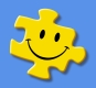 Spiritual Talk Therapy - it's the missing piece in your life to find true happiness. Photo of a smiley on a yellow jigsaw puzzle piece.